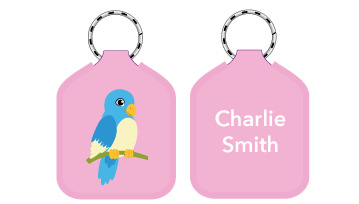 New! Designer Bag Tags - Bird