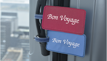 Luggage Bag Tags - Bon Voyage