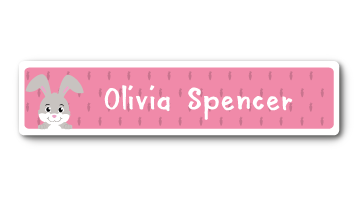 New! Designer Name Labels - Rabbit
