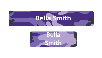 Classic Name Labels - Camouflage