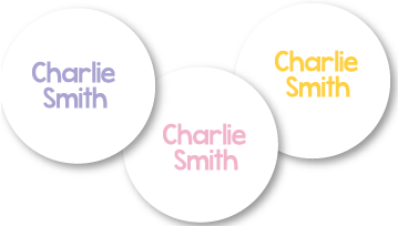 New! Classic Round Printed Iron On Labels