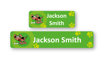 Classic Name Labels - Dog
