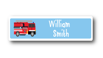 Printed CLOTHING Labels - Fire Engine