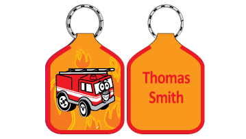 Classic Bag Tags - Fire Engine