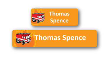 Classic Name Labels - Fire Engine