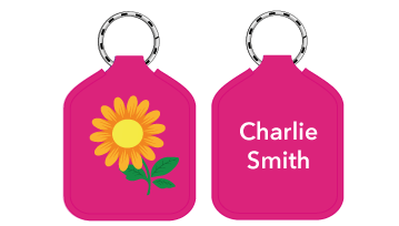 New! Designer Bag Tags - Flower