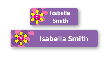Classic Name Labels - Flower