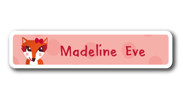 New! Designer Name Labels - Fox