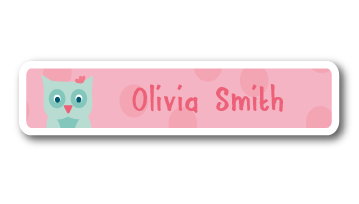 New! Designer Name Labels - Owl