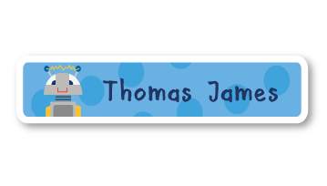 New! Designer Name Labels - Robot