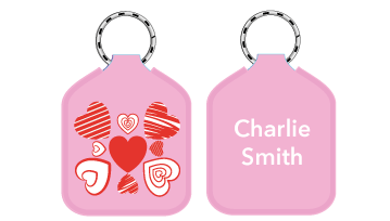 New! Designer Bag Tags - Heart