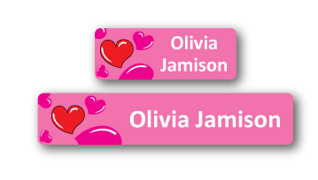 Classic Name Labels - Heart