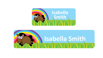 Classic Name Labels - Horse