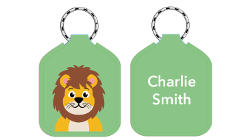New! Designer Bag Tags - Lion