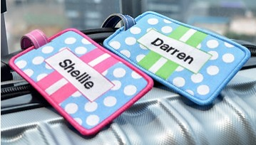 Luggage Bag Tags - Polka Dots