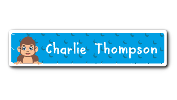 New! Designer Name Labels - Monkey