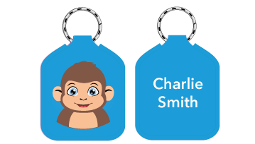 New! Designer Bag Tags - Monkey