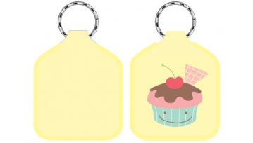 Designer Bag Tags - Cup Cake