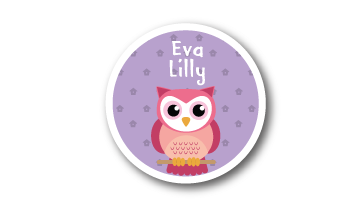 Printed CLOTHING Labels -  Owl