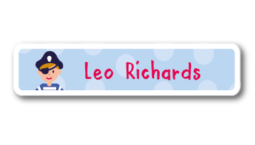 New! Designer Name Labels - Pirate
