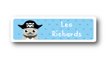 Printed CLOTHING Labels - Pirate