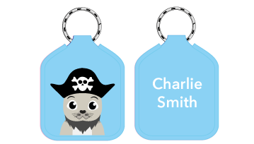 New! Designer Bag Tags - Pirate Seal