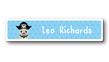 New! Designer Name Labels - Pirate Seal