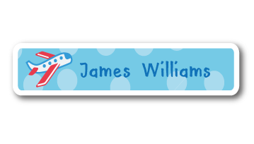 New! Designer Name Labels - Plane