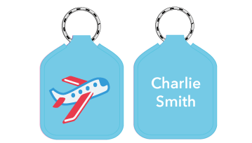 New! Designer Bag Tags - Plane