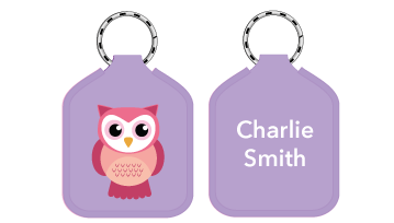 New! Designer Bag Tags - Owl