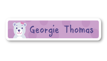 New! Designer Name Labels - Polar Bear