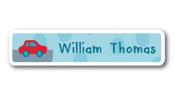 New! Designer Name Labels -  Car