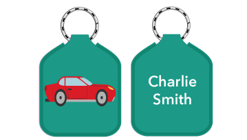 New! Designer Bag Tags - Car