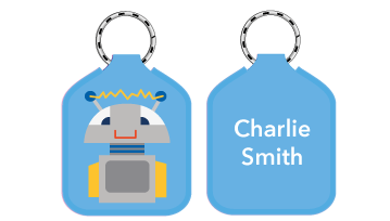 New! Designer Bag Tags - Robot