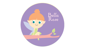 Designer Round Name Labels - Fairy