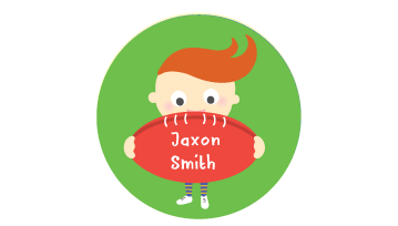 Animated Round Name Labels - Football