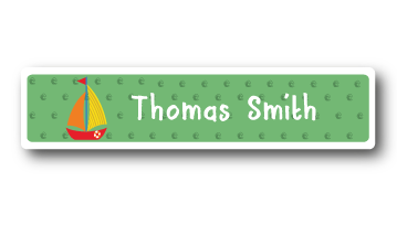 New! Designer Name Labels - Sail Boat