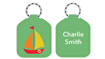 New! Designer Bag Tags - Sail Boat