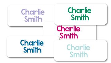 Classic Printed Iron On Name Labels