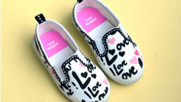 Coloured Shoe Labels - 24 Stickers