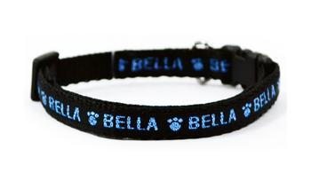 X Small Personalised Lurex Dog Collars