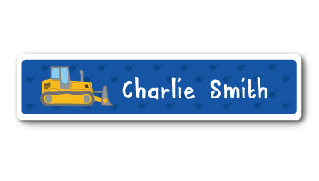 New! Designer Name Labels -  Bulldozer