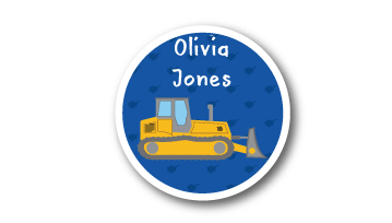 Animated Round Name Labels -  Bulldozer